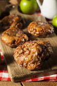 Homemade Glazed Apple Fritters