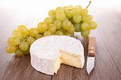 cheese and green grape