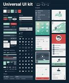 Universal UI Kit for designing websites & mobile apps