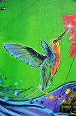 Street art Montreal hummingbird