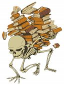 Book Pile Skeleton, Color
