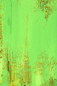 Green old wooden background