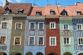 Colourful Buildings On Marketplace In Poznan