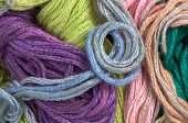 Colorful Thread As Abstract Background