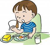 boy having breakfast