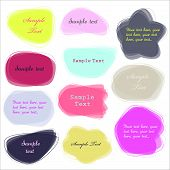 Colorful labels - speech bubbles set