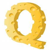Cheese Letter Q