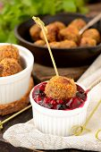 Meatballs with cranberry sauce