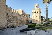 Defense Tower Attached To The Walls Of The City Of Monastir In Tunisia.