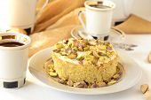 Semolina cake with pistachios