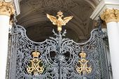 Two Headed Eagle At The Entrance Gate To The Hermitage