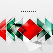 Squares and shadows - colorful geometric futuristic tech abstract background