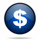 dollar us internet blue icon
