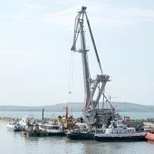 The image of harbour crane