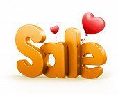 3D Rendered Sale Word