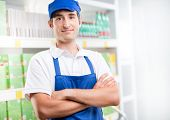 Young Supermarket Worker