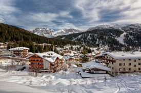 foto of italian alps  - Ski Resort of Madonna di Campiglio View from the Slope Italian Alps Italy - JPG
