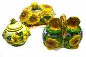 The Dishes With Sunflowers