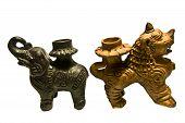 Nepal, Ceramic Candlesticks