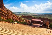 Famous Red Rocks Amphitheater In Morrison.