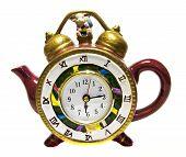 Tea Pot With A Clock
