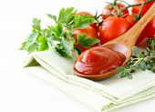 natural tomato sauce (ketchup) with herbs and spices