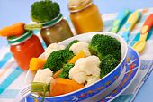 Steamed Vegetables For Baby