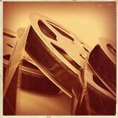 foto of mm  - 16 mm reel old movie film archive - JPG