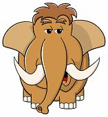 Cartoon Mammoth On White Background