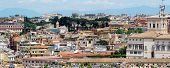 foto of emanuele  - Rome aerial view from Vittorio Emanuele monument - JPG