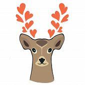 Deer with hearts