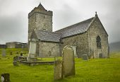 Scottish Antique Church In Harris Isle. St. Clement. Scotland. Uk