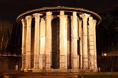 Temple of Vesta by night
