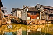 Houses On Canal In China
