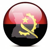 pic of civil war flags  - Map on flag button of Republic of Angola - JPG