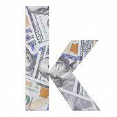 Alphabetic letter K.