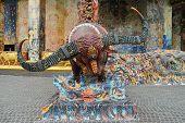 Sculpture Of Buffalo Goddess