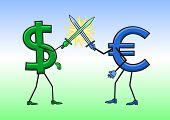 Dollar vs Euro.