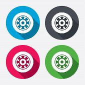 pic of four-wheel  - Car wheel sign icon - JPG