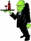 Cartoon Igor water serving drinks