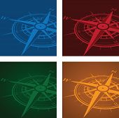 colourful compass background sets