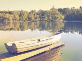 Tranquil scene of a boat near the lake