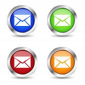 Email Icon Web Button Set