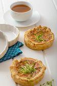 Onion Mini Quiche With Bacon And Corn