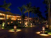 mexico resort hotel night