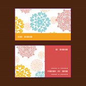 Vector abstract decorative circles stars horizontal stripe frame pattern business cards set