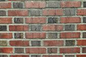 Brick Wall With Mortar And Cracked Details
