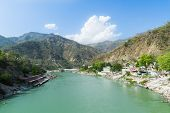 foto of gang  - Rishikesh Valley on the Ganges river - JPG