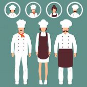 image of chefs hat  - vector cooking illustration - JPG