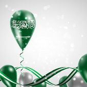 Flag of Saudi Arabia on balloon